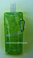 hot selling stand up pouch spouted with carabiner hook