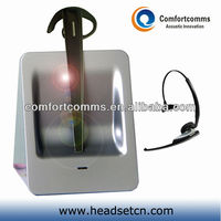 Noise cancelling 2.4GHz call center wireless earphone &headset with mic CW-3000