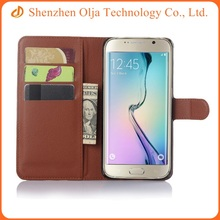 2015 wholesales colorful custom flip leather case cover for samsung galaxy s6