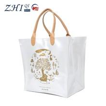 2015 hot sale ZQ-M-004 Dongguan light plastic PVC factory outlet BSCI new design handbag