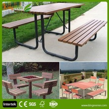 outdoor garden wood plastic composite furniture patio garden furniture use for cafe and for balcony