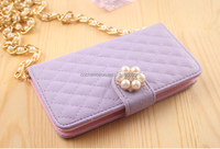 Stand Sheep leather mobile phone wallet cell phone case with necklace for Sony Xperia Z1/Z2 CO-LTC-1039