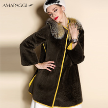 New style slim womens sheepskin winter fur coats on sale
