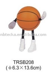 PU standing basketball man/stress reliever basketball with hands and feet/anti stress sport ball toy