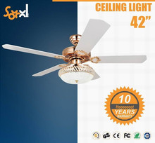 CE hot sell Europe South America Africa 42 inch decorative ceiling fan with light