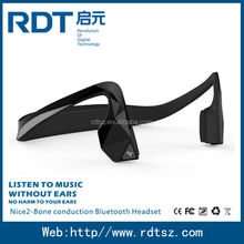 New model sport bluetooth headset with bone conduction,listen to music without ear