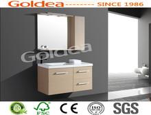 espelhado móveis tampo de mármore com estilo de casa de banho