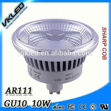 hall ceiling 12w dimmable nature white led lights ar111 gu10 10000cd 24 degree