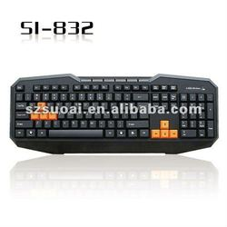 hot wired multimedia gaming keyboard 832