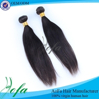 Raw virgin remy straight clip in hair extensions brazilian weave
