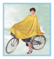 Polyester hooded rain coat bicycle / Electronic bike PVC rain poncho