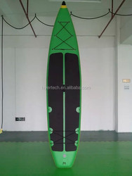 Race paddle board type blue color inflatable paddle board longboard