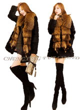 Corea cx-g-a-143 conejo de piel de mapache moda para mujer ropa