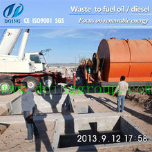 state-of-art polluttion tire derived fuel machine using waste plastic