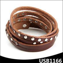 gioielli chic sottile avvolgere cinturino in pelle bracciali con borchie