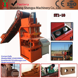 Hydraulic SY1-10 soil cement block making machine automatic, interlocking stabilized soil block machine lego brick