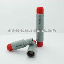 mini Medical Plastic circular push pull self locking connector,fast floating medical connector