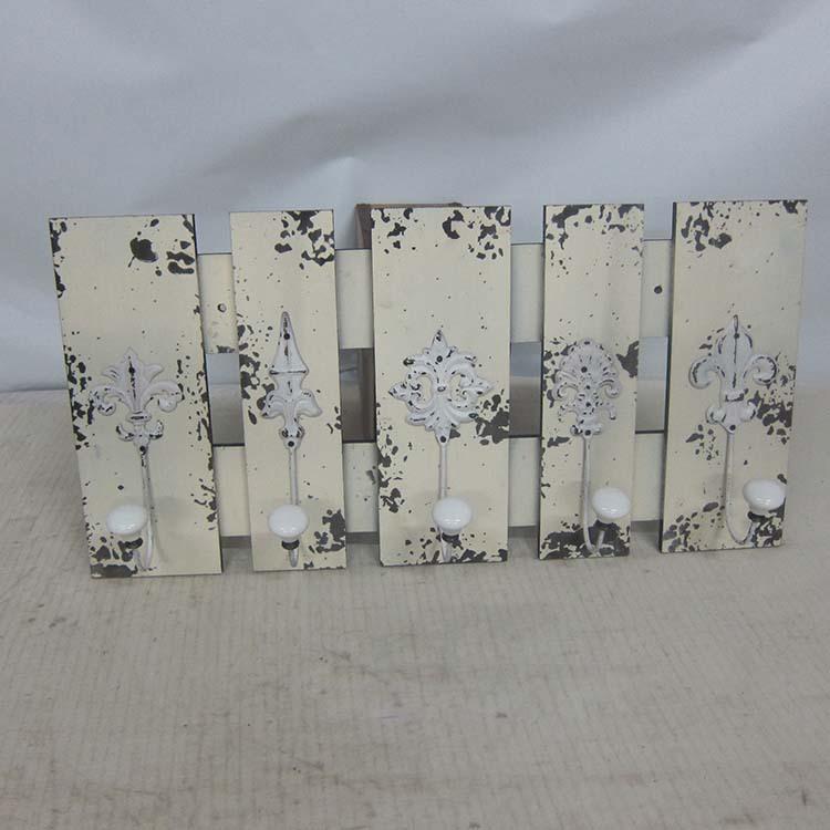 골동품 초라한 흰색 나무 거실 장식 벽 훅-후크 & 레일 -상품 ID ...