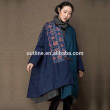 2014 original de la marca impresa más el tamaño de invierno de algodón- acolchado chaqueta parka