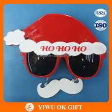 Chirstmas santa hat ho ho ho party glasses with moustache