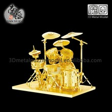 DIY Musical Instrument Drum Kit 3D Metal Puzzle educational toys