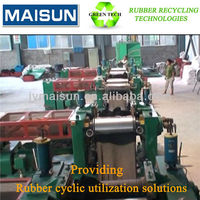 reclaimed rubber mixing mil for waste tyre/used tires recycling production line