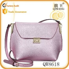 2015 china suppliers Women Fashion Leather Messenger Bag Pink Cute Shoulder Bag