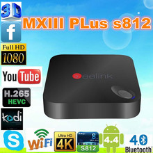 New Product Beelink MXIII Plus Amlogic S812 Android Google Android 4.4 Quad Core 2G 8G Tv Box Qcta core XBMC With ON/OFF Keying