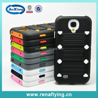 China supplier with stand PC+silicon hybrid case for Samsung Galaxy S4