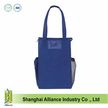 Embossing non-woven fabric insulated cooler bag promotional cooler lunch bag