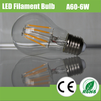 Newest E27 E14 dimmable led filament bulbs 6w dimmable led light bulbs made in China