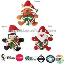 soft stuffed christmas pet toys/pet christmas toy/toys for pet christmas
