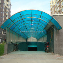 High Quality 10 year warranty 100%Bayer UV plastic sheets plastic flat sheet roof carports garages with polycarbonate roof