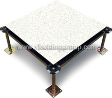 Antistatic Wood Core Raised Floor, galvanized PVC, HPL , Cremic tile