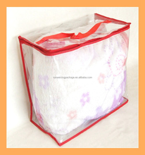pvc blanket bags ,baby quilt packing zipper Plastic Material and Accept Custom Order freezer storage bag