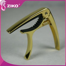 custom gold color metal guitar capo for acoustic and classical guitar
