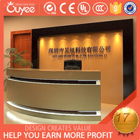 Hot sales modern circle desks / modern cashier counter / counter reception modern designs