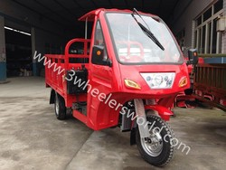 China 200CC Water Cooled Engine Van Cargo Tricycle