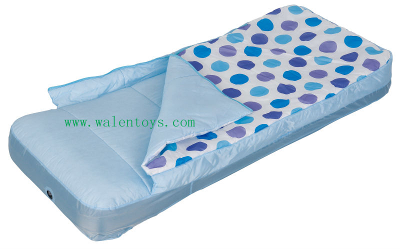 Toddler Kids Outdoor Travel Air Mattress Bed W Rails
