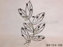 Leaf shaped candle holders wall decoration
