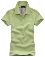 combed cotton singlet jersey with embroidery patch custom golf polo shirt design