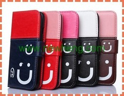 Smiling Face Magnetic Flip Leather Wallet Case For iPhone 6
