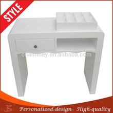widely trusted at home and abroad furniture double wood manicure table,wooden durable and beautiful manicure desk