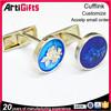 Promotion cheap custom silver cufflinks