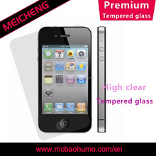 oleophobic coating tempered glass screen guard 2.5D curved edge anti-peep screen protector for iphone 4