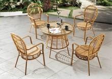 Further 2015 Stylish round Rattan wicker Furniture Garden Dining Set rattan Outdoor furniture
