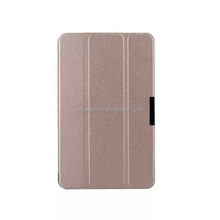 tri folding super thin folio flip pu leather case for dell windows 8