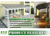 Patio Awning Cover Balcony Pergola Metal Roof Gazebo