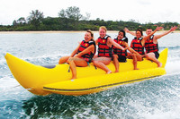2015 High quality inflatable water games flyfish banana boat for sale,flying fish boat