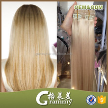 Alibaba Directory Factory Long Lasting remy clip in hair extension 220 grams